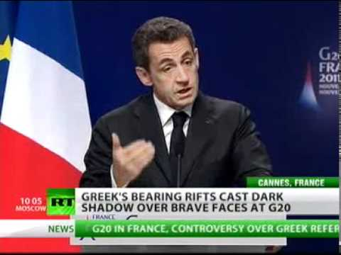 Merkel and Sarkozy Bully Papandreou for wanting to be DEMOCRATIC by asking the PEOPLE!