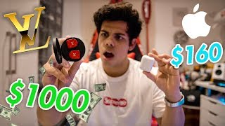 LOUIS VUITTON AIRPODS WORTH $1000? UNBOXING & REVIEW