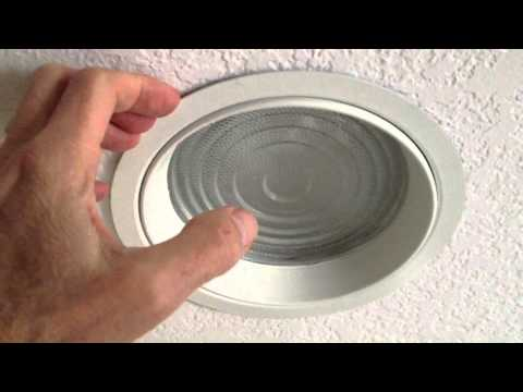 Changing shower light bulb in recessed fixture with lens - How to replace light fixture in bathroom ...
