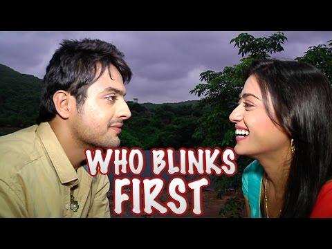 Gaurav and Kritida aka Shraddha and Sher of Piya Rangrez plays who blinks first