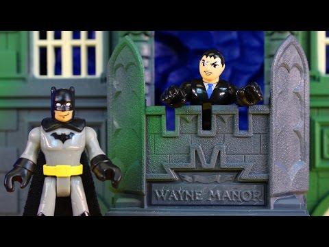 Vintage Batman Forever Wayne Manor Batcave Compound Playset With Imaginext Figures