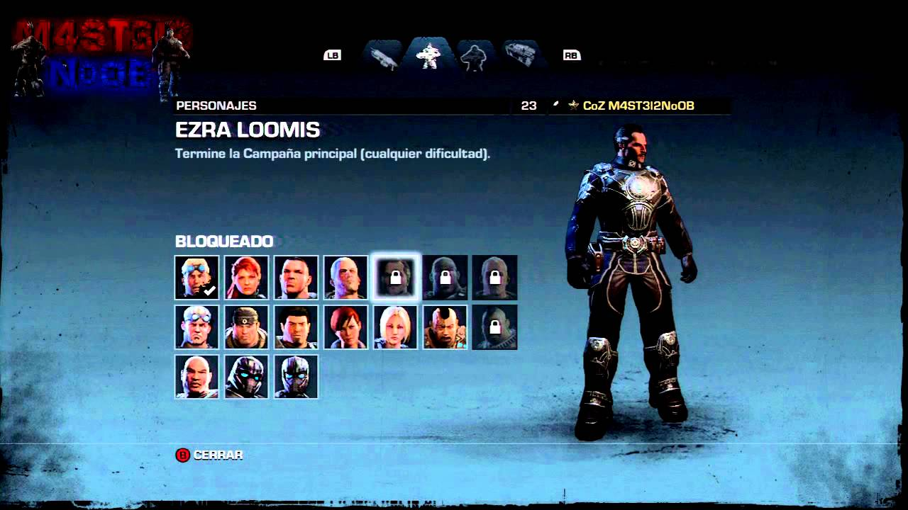 GEARS OF WAR JUDGMENT TODOS LOS PERSONAJES EXCLUSIVOS DE