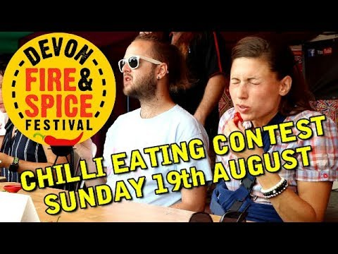 Chilli Eating Contest - Sunday 19th August - Devon Fire & Spice Festival
