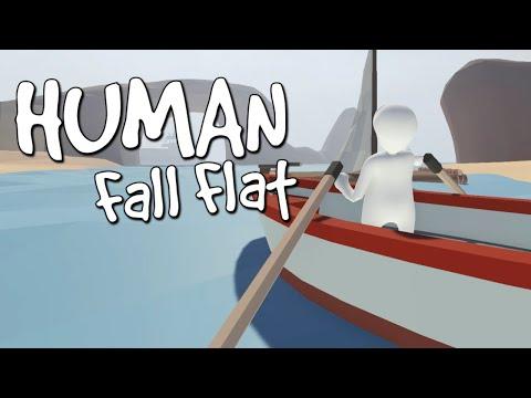 Разбиваем окна и падаем в пропасть human fall flat