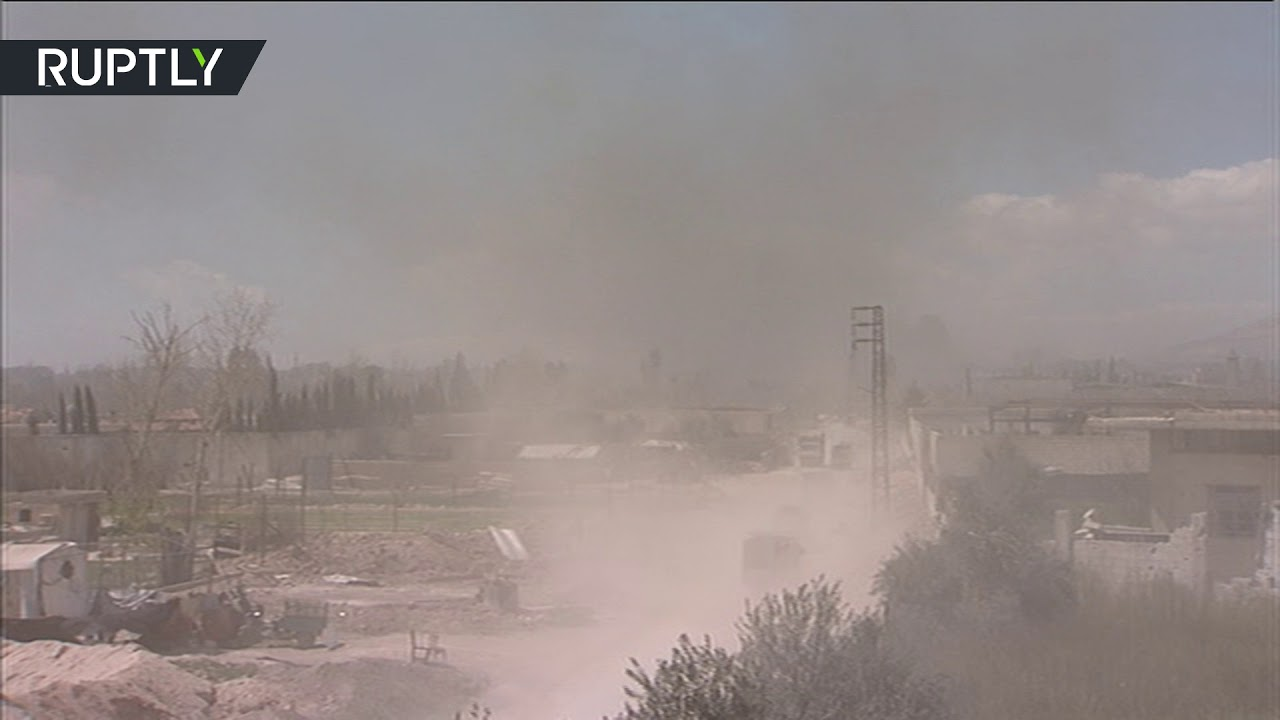 Eastern Ghouta left in smoke as civilians flee area