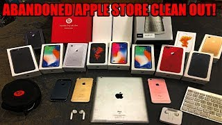 ABANDONED APPLE STORE CLEAN OUT!! Found free iPhones, iPads, AirPods, and more Apple products!!!