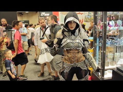 Monika Lee Diablo III Cosplay at Comic-Con 2014 (full interview)