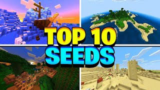 TOP 10 EPIC SEEDS for Minecraft PE! BEST NEW MCPE 1.12.0 SEEDS! (Pocket Edition)