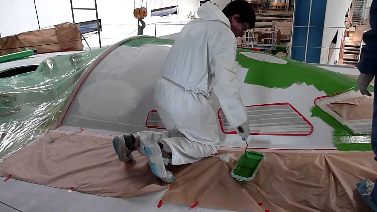 Mars 2012 peinture pont bateau team plastique vend e globe 2012 avec alessandro di benedetto2 for Peinture de renovation v