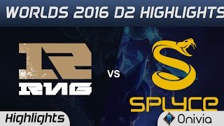 RNG vs SPY Highlights Worlds 2016 D2 Team Royal Never Give Up vs Splyce