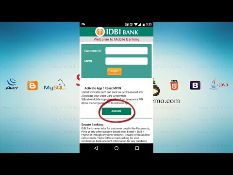 How to Generate MPIN and Activate IDBI Mobile Banking App