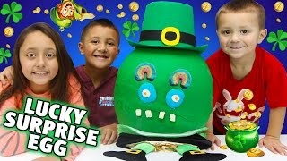 The Luckiest Surprise Eggs' Disastrous Opening! BAD IDEAS x 3 w/ Skylander Boy and Girl & LC CHASE