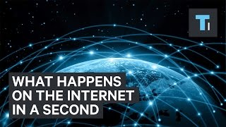 What happens on the internet in a second