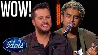 Judges Can't Believe His Singing or Guitar Playing!    Idols Global