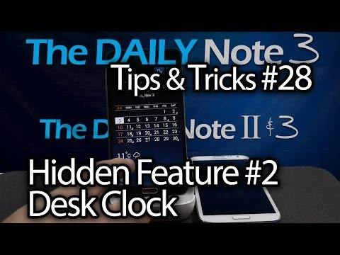 Samsung Galaxy Note 3 Tips & Tricks Episode 28: Hidden Feature #2. Desk Clock Appears When Docked