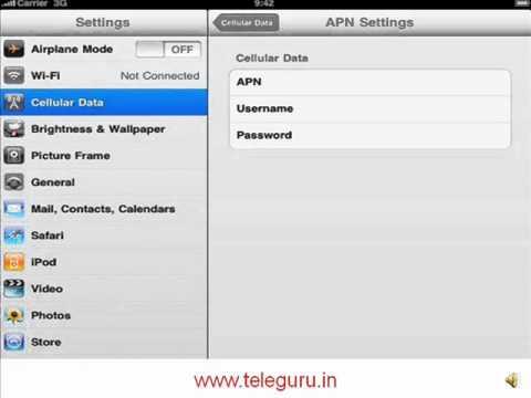 How to set BSNL 3G on iPad.iPad2.iPhone