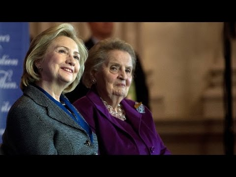 "Women to back Clinton, avoid ""special place in Hell..."