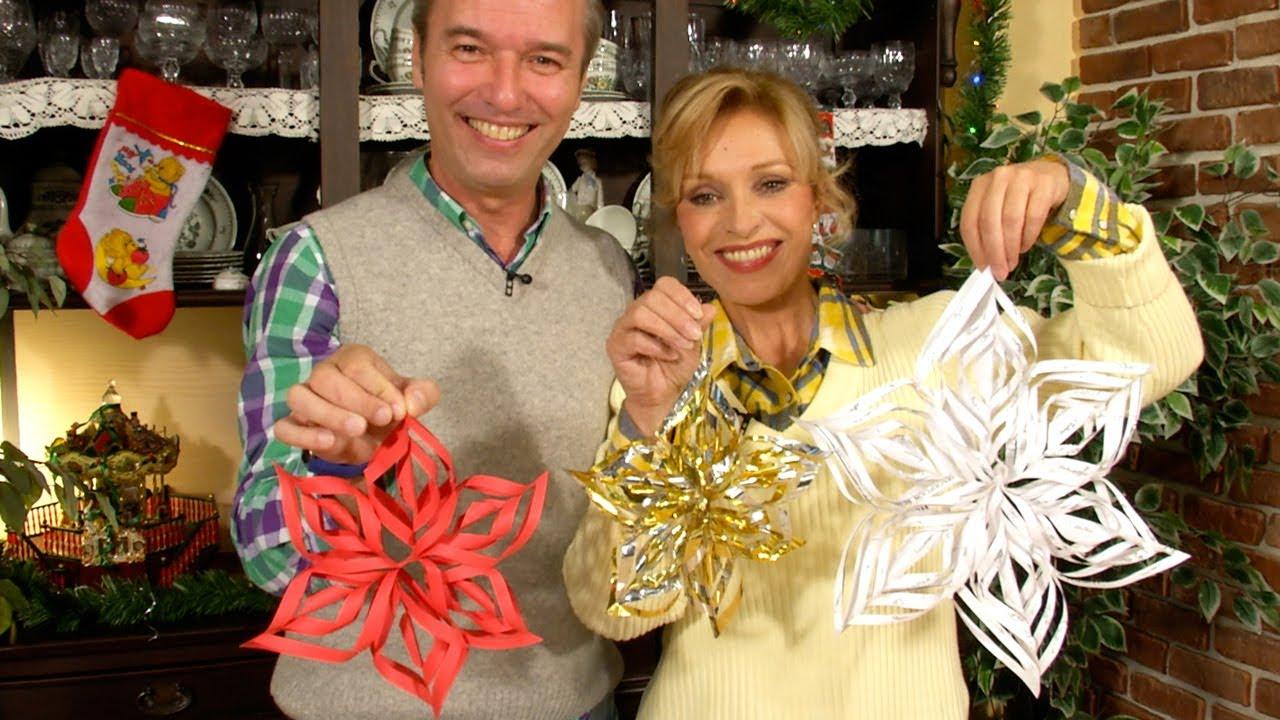 Adornos de papel para navidad copo de nieve snowflake for Adornos de navidad para hacer en casa