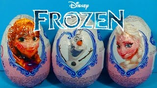 Disney FROZEN surprise eggs! Unboxing 3 eggs surprise Disney FROZEN!