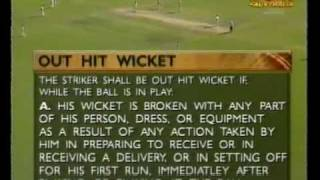 Unusual & controversial cricket umpire decision- Mark Waugh hit wicket vs South Africa 3rd test 1998