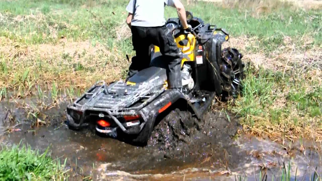 Brute Force Grizzly Can-am XMR atv ride mud crash - YouTube