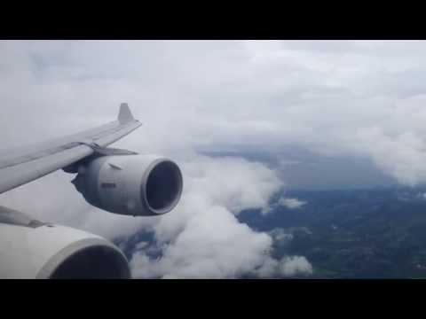 Iberia a340-600 (EC-IZY) descenso y aterrizaje abortado en SJO, CR