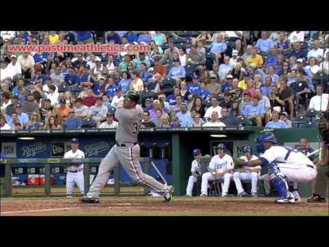 Adam Dunn Slow Motion Home Run Baseball Swing - Hitting Mechanics Chicago White Sox MLB