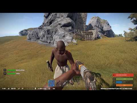 Rust Social Experiment - Giving a random player a gun