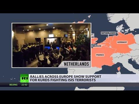Kurds rally across Europe & Turkey to oppose ISIS advance on Kobani (VIDEO MAP)