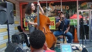 Nice street blues music at Broad Appetite in Richmond