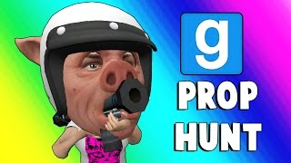 Gmod Prop Hunt Funny Moments - Sneaky Office Pig (Garry's Mod)