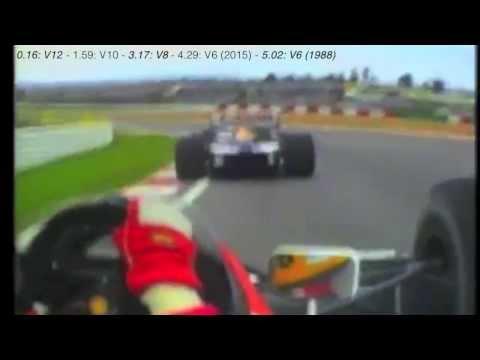 Formula 1 engine sound comparison: V12-V10-V8-V6 (2015) - Honda