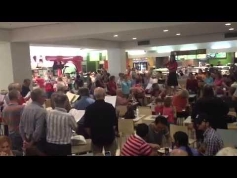 Flash Bob Hallelujah Chorus Myers Food Court Adelaide Satur
