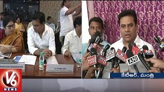 KTR Attends Textile Ministers Meet In Delhi | Handloom And Handicraft Sector