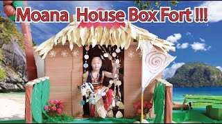 Moana House Box Fort ! Bug does her Moana Chores 🐷