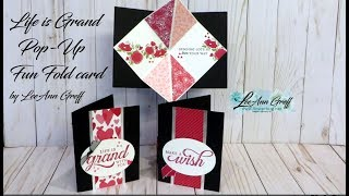 Life is Grand EASY Pop Up Card