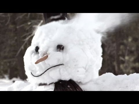 Top 10 Ways To Destroy A Snowman (Slow Motion)