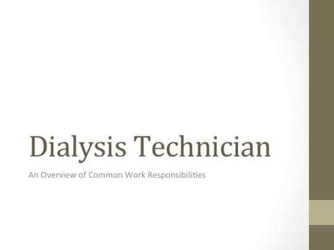 review of the dialysis technician job description