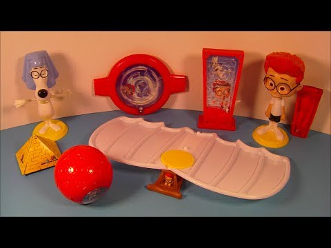 2014 Mr. PEABODY and SHERMAN SET OF 6 McDONALD'S HAPPY MEAL MOVIE TOY'S VIDEO REVIEW