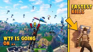 This Guy Got The Fastest 12 Kills *WORLD RECORD* - Most Llama Skins Landed in Tilted Towers