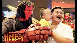 """Hellboy"" cosplay Prank and Mall Tour (Part 1) - HELLBOY Advance Screening in Manila"