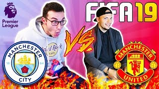 Man City VS ManU FIFA 19 FUSSBALL CHALLENGE!