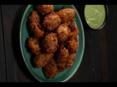 Chilli Mushroom Pakora   Sanjeev Kapoor Khazana
