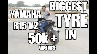 yamaha r15 v2 modified with fat tyre
