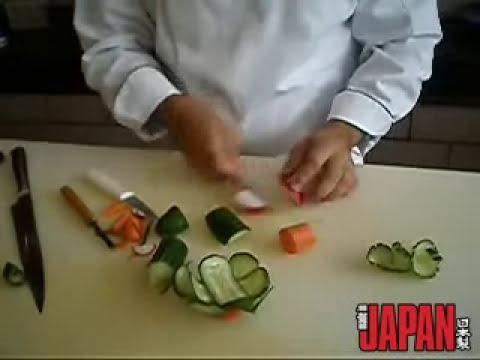 Aprenda a fazer flores com legumes