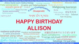 Allison   Languages Idiomas - Happy Birthday