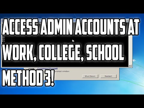 How to Access Admin Accounts at Work, College, School, New Method
