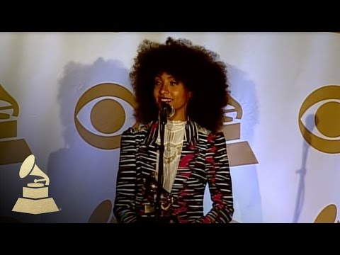 Esperanza Spalding in the TV/Radio Room at 53rd Annual GRAMMY Awards