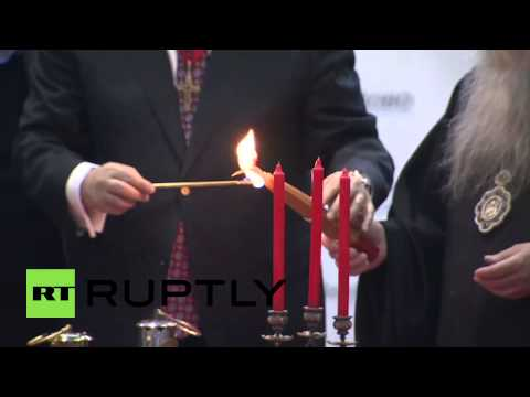 Russia: Holy Fire from Jerusalem lands in Moscow for Easter