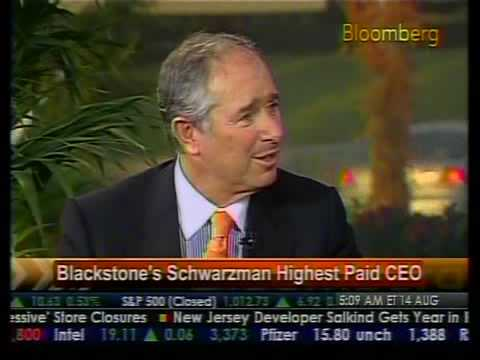Blackstone's Schwarzman Highest Paid CEO - Bloomberg